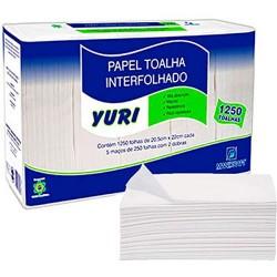 PAPEL TOALHA 2 DOBRAS YURI C/1250