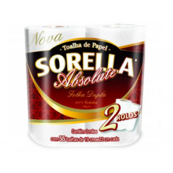 PAPEL TOALHA ROLO ABSOLUTE SORELLA C/02