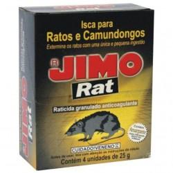 INSETICIDA RATICIDA GRANULADO 25G JIMO C/04
