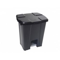 LIXEIRA PLASTICA C/ PEDAL PRETA 30L JSN REF.P30