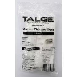 MASCARA DESCARTAVEL TRIPLA BRANCA TALGE C/50