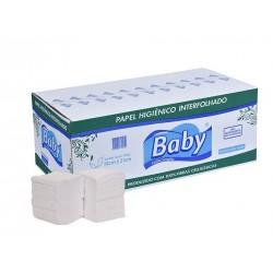 PAPEL HIGIENICO FOLHA SIMPLES INTERFOLHADO BABY C/10000