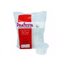 POTE REDONDO C/ TAMPA 250ML PRAFESTA C/24